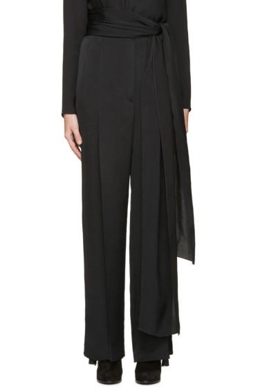 Lanvin - Black Sach Belt Palazzo Trousers