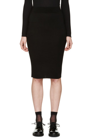 Alexander McQueen - Black Knit Pencil Skirt