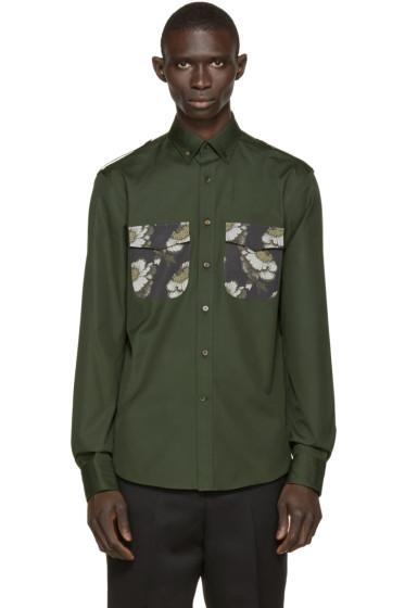 Alexander McQueen - Grey & Green Flower Patch Shirt