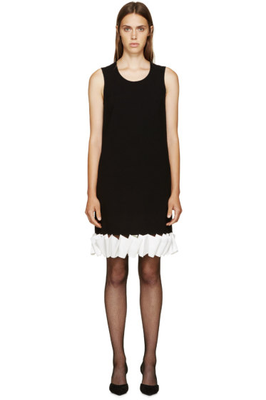 Givenchy -  Black & White Ruffle Crepe Dress