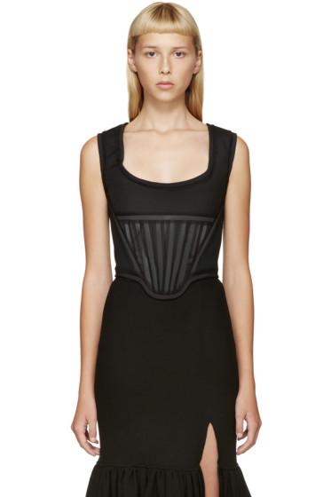 Givenchy - Black Chiffon Trimmed Corset