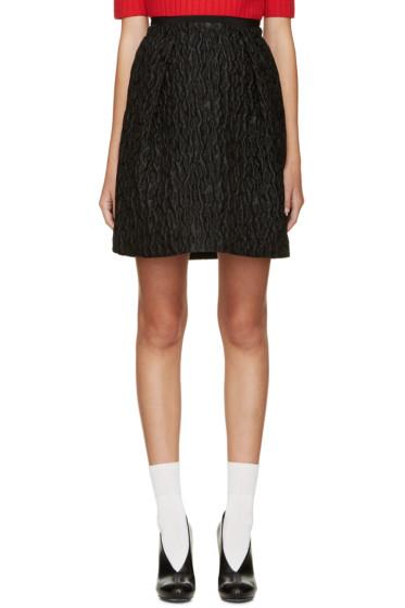 Carven - Black Waffle Jacquard Skirt