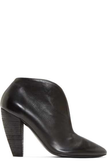 Marsèll - Black Leather Cleavage Ankle Boots