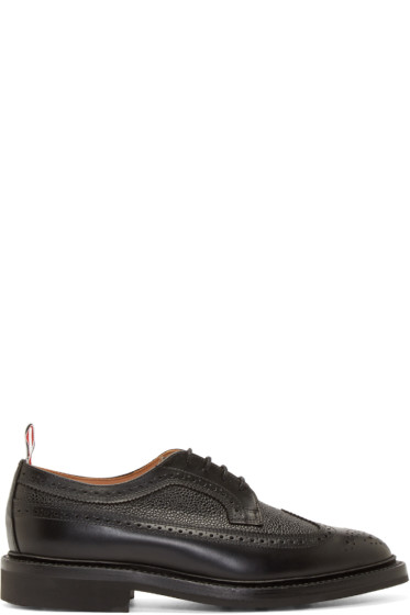 Thom Browne - Black Leather Classic Longwing Brogues