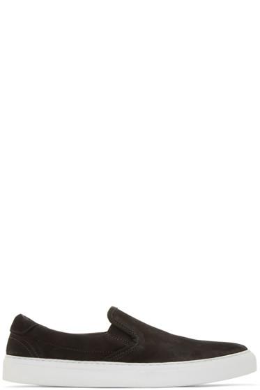 Diemme - Black Ecological Nubuck Garda Slip On Sneakers