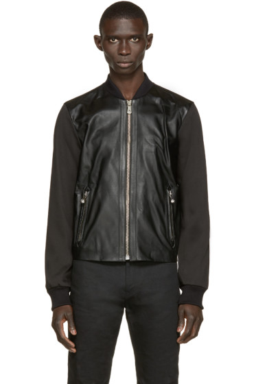 Versus - Black Leather Bomber