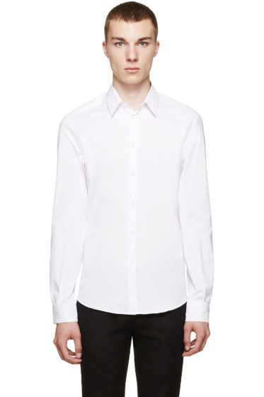 Versace - White Slim-Fit Shirt