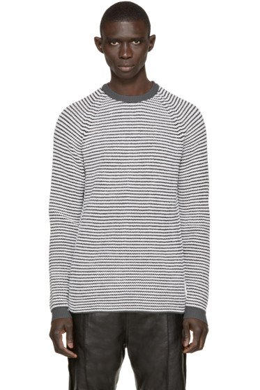 Umit Benan - Black & White Striped Supergeelong Sweater