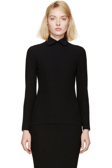 Nina Ricci - Black Ribbed Pullover
