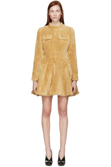 J.W.Anderson - Beige Teddy A-Line Dress