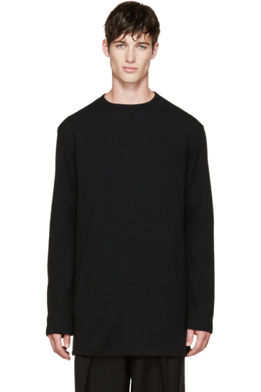 Thamanyah - Black Merino Knit Sweater