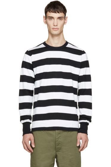 Visvim - Black & White Big Border Shirt