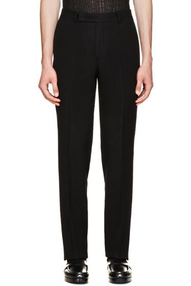 Yang Li - Black Slim Wool Trousers
