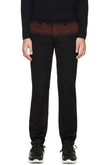 Kolor - Navy & Burgundy Cashmere Trousers