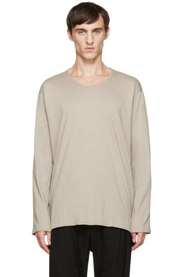 Nude:mm - Beige Long Sleeve T-Shirt