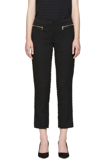 Erdem - Blue Houndstooth Sienna Trousers