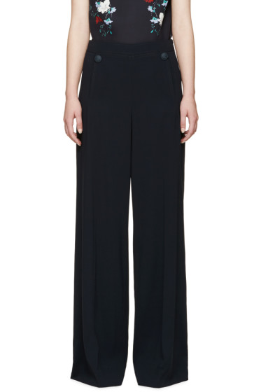 Erdem - Blue Crêpe Birdie Sailor Trousers