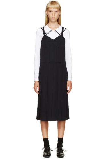 Comme des Garçons Comme des Garçons - Navy Pleated Bustier Dress