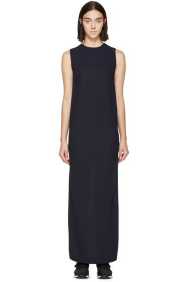 Harmony - Navy Wool Crepe Shift Rita Dress