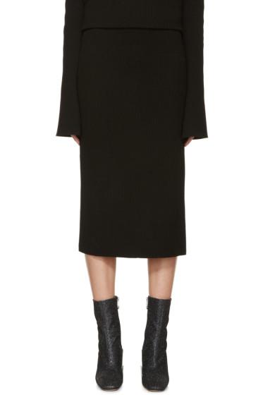 Thomas Tait - Black Rib Knit Tea Skirt