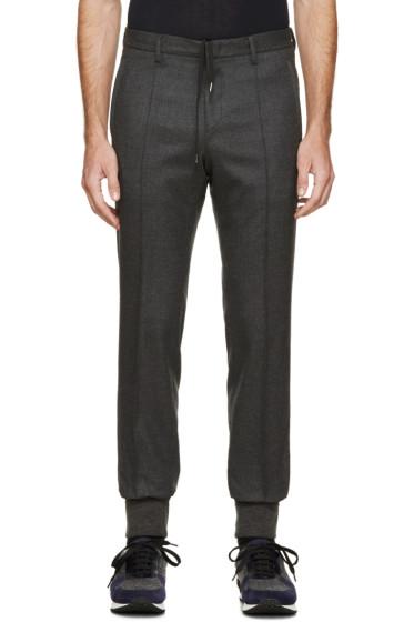 Wooyoungmi - Grey Wool Cuffed Trousers