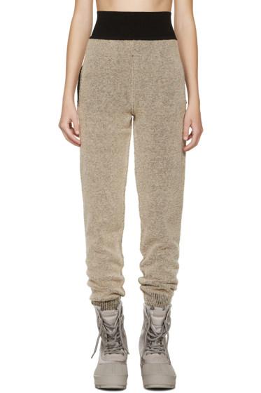 YEEZY Season 1 - Brown Bouclé Knit Lounge Pants