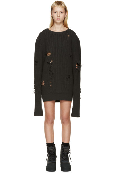 YEEZY Season 1 - Charcoal Patched & Destroyed Sweater