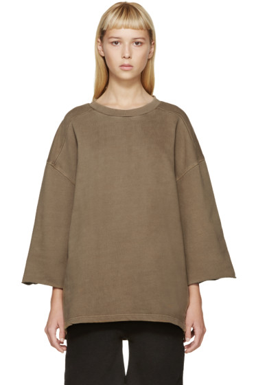 YEEZY Season 1 - Taupe Cropped-Sleeve Pullover