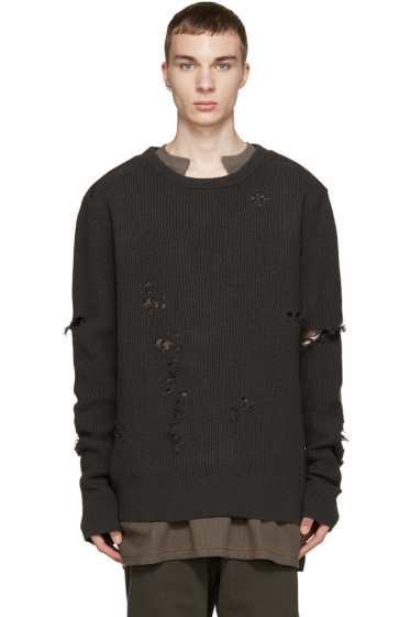 YEEZY Season 1 - Grey Patched & Destroyed Sweater
