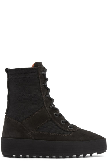 YEEZY Black Hilary Military Boots
