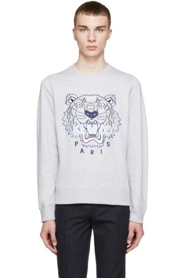Kenzo - SSENSE Exclusive Grey Tiger Logo Sweatshirt