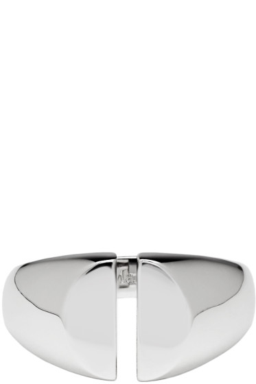 Maison Margiela Fine Jewellery - Silver Chevalière Split Ring