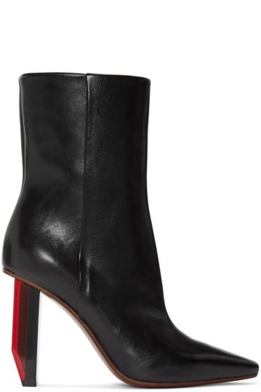 Vetements - Black Reflector-Heel Boots