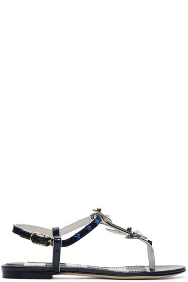 Dolce & Gabbana - Navy Patent Sailor Sandals