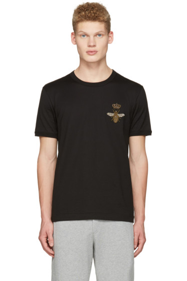 Dolce & Gabbana - Black Crown Bee T-Shirt