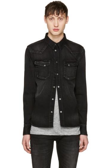 Nudie Jeans - Black Denim Jonis Shirt