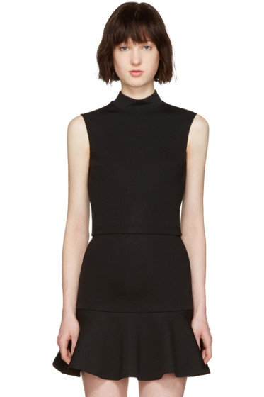 McQ Alexander Mcqueen - Black High Neck Top