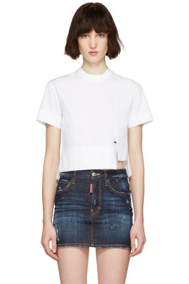 Dsquared2 - White Poplin Mini Blouse T-Shirt