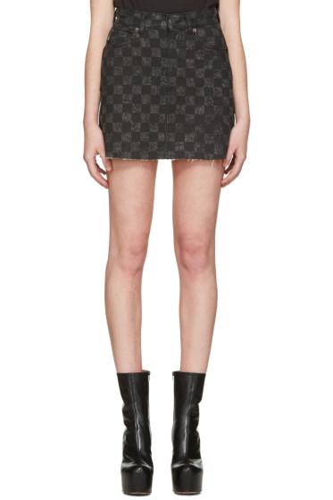 Marc Jacobs - Grey Denim Checker Miniskirt