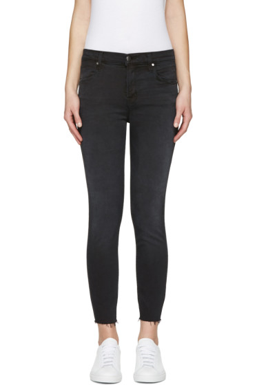 J Brand - Black Alana High-Rise Crop Jeans