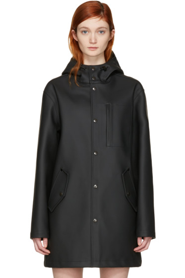 T by Alexander Wang - Black Bonded Rain Jacket