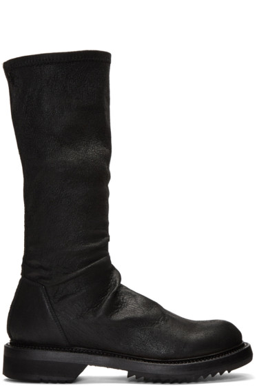 Rick Owens - Black Sock Creeper Boots