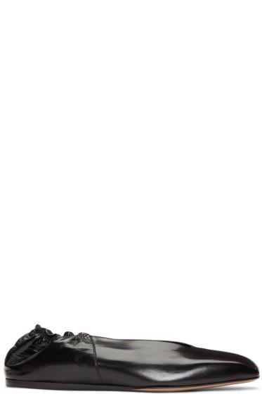 Rick Owens - Black Geo Ballerina Flats