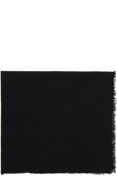 Rick Owens - Black Cotton Scarf