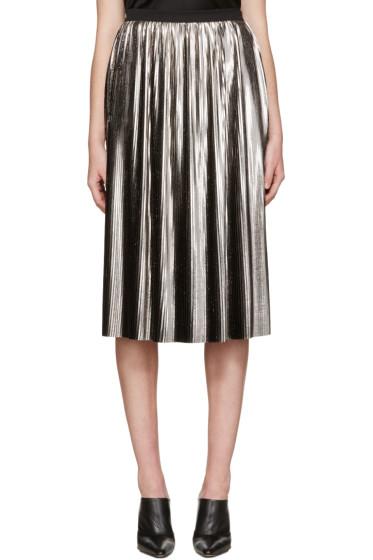 Jil Sander - Silver Metallic Plisse Skirt