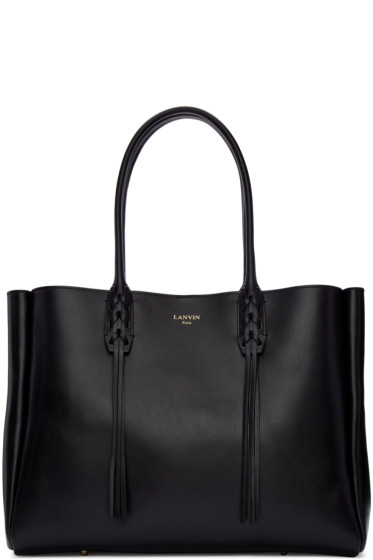 Lanvin - Black Leather Small Shopper Bag