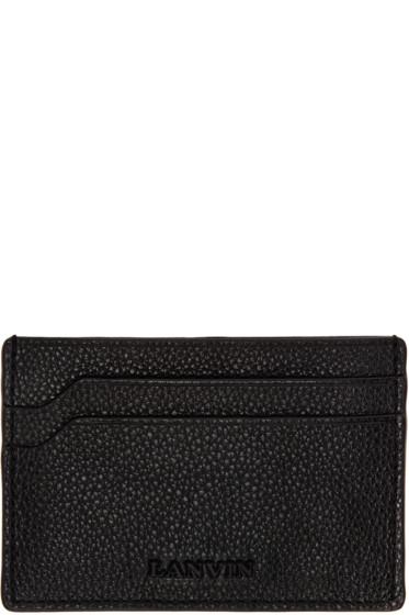 Lanvin - Black Leather Card Holder