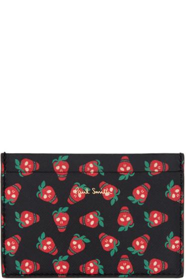 Paul Smith - Black Strawberry Skull Card Holder