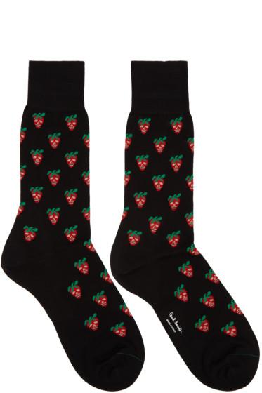 Paul Smith - Black Mini Strawberry Socks