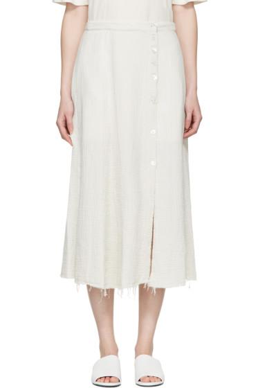 Raquel Allegra - White Gauze Safari Skirt